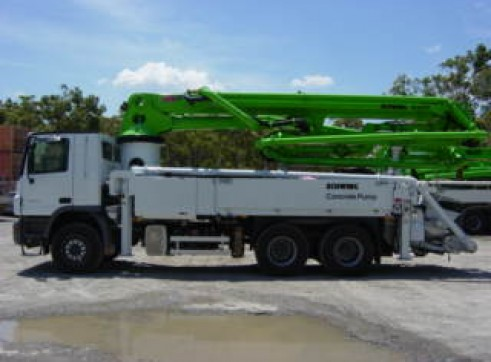 31m Truck Mounted Concrete Pump with Telescopic Boom 1