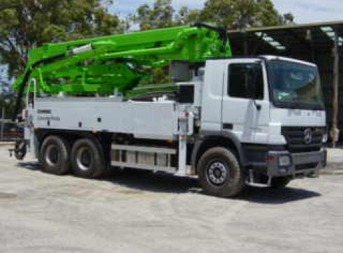 31m Truck Mounted Concrete Pump with Telescopic Boom 2