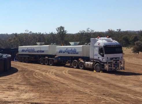 40,000L B-Double Water Tankers x 2 1