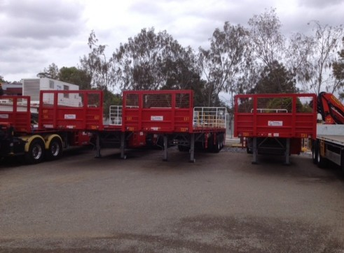 40-45FT  Drop Deck Tri-Axle Trailers 1