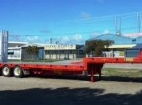 40-45FT Drop Deck Tri-Axle Trailers with ramps