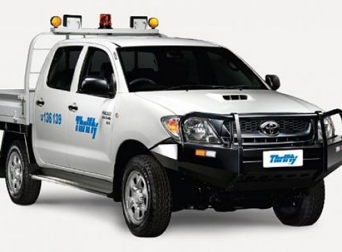 4WD Dual Cab, tray Ute (Hilux or similar), manual, mine equipped.           1