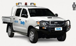 4WD Dual Cab, tray Ute (Hilux or similar), manual, safety pack              1