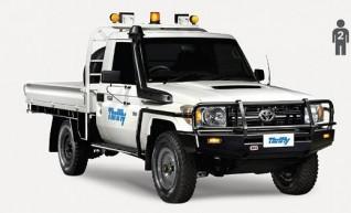 4WD Single Cab, tray Ute (e.g. Landcruiser), mine equipped          1