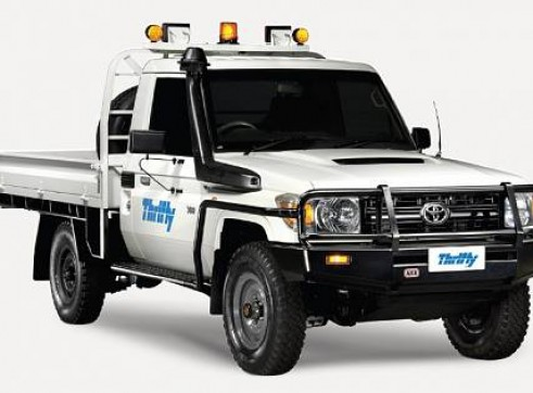 4WD Single Cab, Tray Ute (Hilux or similar), manual, safety pack            1