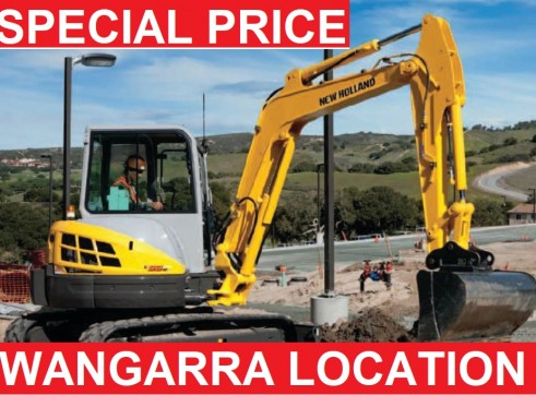 5.5 TON EXCAVATOR MONTHLY $165 $ DAY RATE $240 1