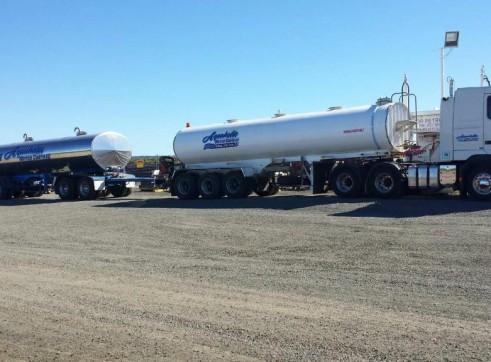 52,000L Potable Road Train Water Tanker x 2 1