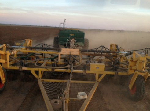 60ft Multiplanter with tow behind Simplicity air seeder 1