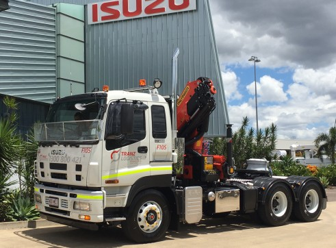 6x4 Prime Mover with Palfinger PK 18002 Crane