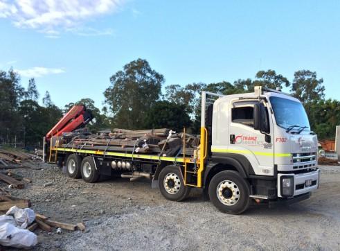 6x4 Rigid-9m Tray- PK 14002 EH C Palfinger Crane Truck-Rear 2