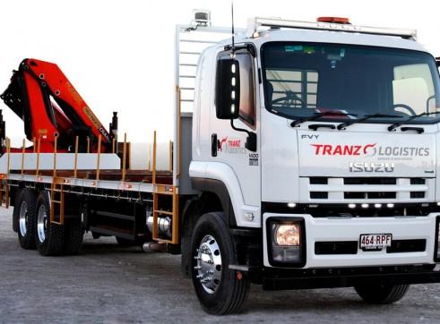 6x4 Rigid-9m Tray- PK 23002 EH Palfinger Crane Truck-Front 2
