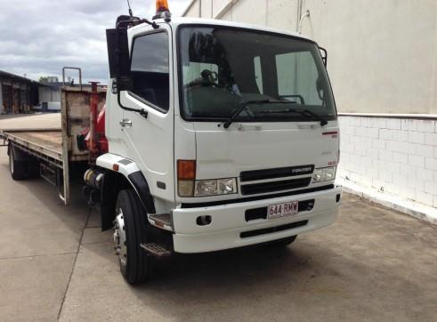 7T Front Mount Crane Truck w/9m tray 2