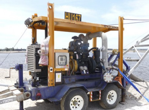 8 Inch Trailer Mounted Pump Set 1