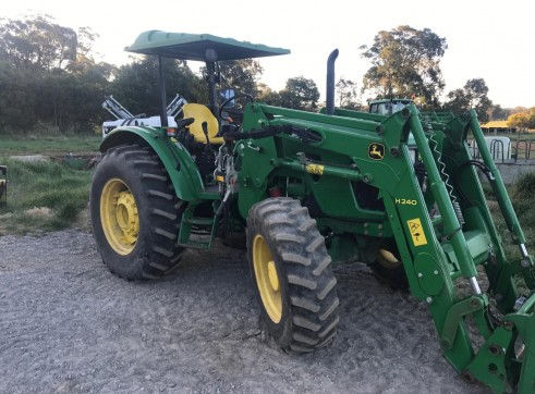 85HP John Deere Tractor w/front end loader 1