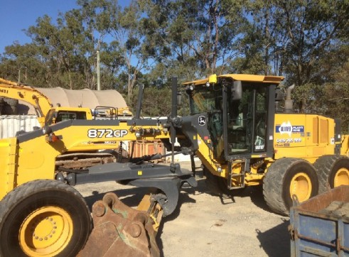 872GP john deere grader Trimble GPS/UTS 16ft blade full mine spec 1