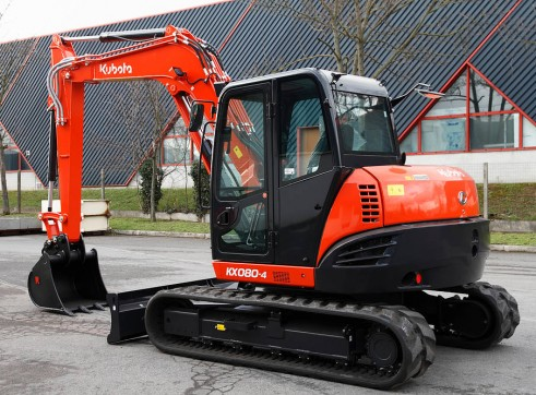 8T 2016 Kubota KX080 Excavator