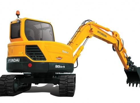 8T Excavator Hyundai R80CR-9 4
