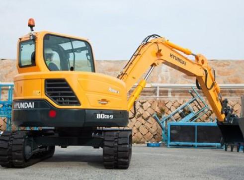 8T Excavator Hyundai R80CR-9