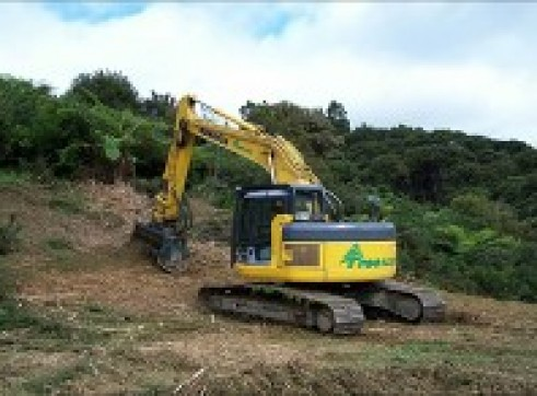 8T Excavator w/Groomer or Tree Grab 1