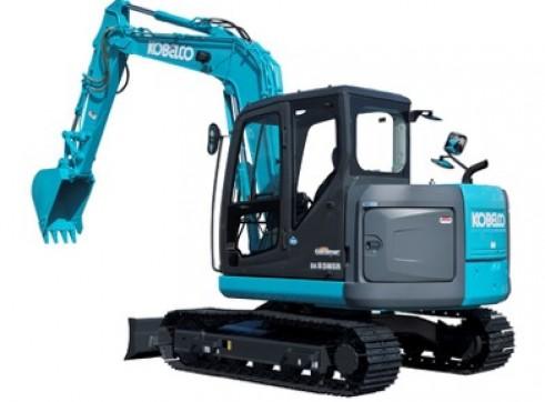 8T Kobelco SK85SR Excavator