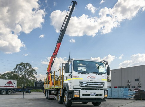 8x4 Flatdeck Crane Truck with 9m Tray 6