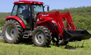 90HP 4WD Tractor w/4 in 1 Front-end Loader & Slasher 1