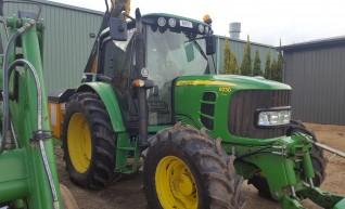 90HP 4WD Tractor w/front 3 point link, reach mower, mulcher... 1