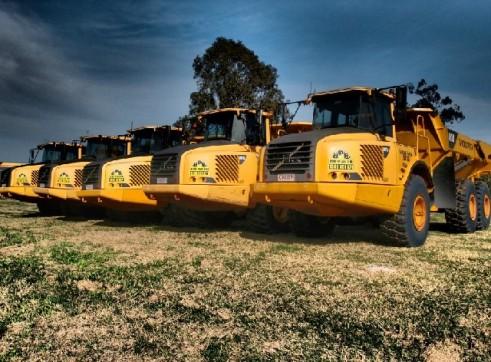 A25D and A30D Volvo Articulated Dump Trucks