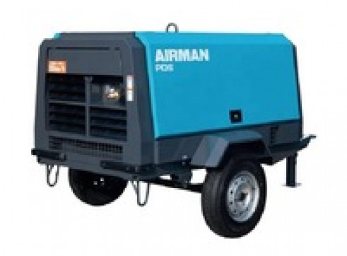 AIRMAN PSD75S - AIR COMPRESSOR - 75CFM/100PSI (TRAILER & HOSE INCLUDED) 1