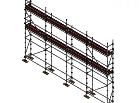 Aluminium Kwikstage Modular Scaffold System (0.7m (W) x 10.0m (L) x 5.0m (H) 1