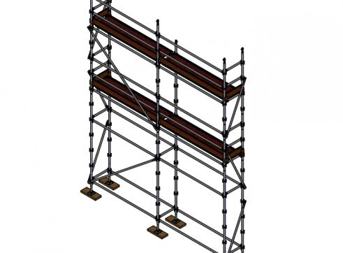 Aluminium Kwikstage Modular Scaffold System (0.7m (W) x 5.0m (L) x 5.0m(H) 1