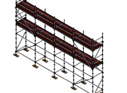 Aluminium Kwikstage Modular Scaffold System (1.3m (W) x 10.0m (L) x 5.0m (H) 1