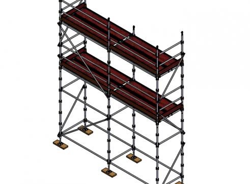 Aluminium Kwikstage Modular Scaffold System (1.3m (W) x 5.0m (L) x 5.0m (H) 1