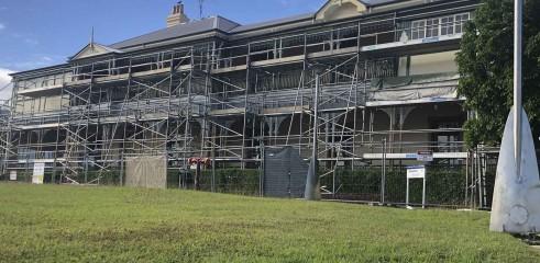Aluminium Scaffold - Repainting Building 1