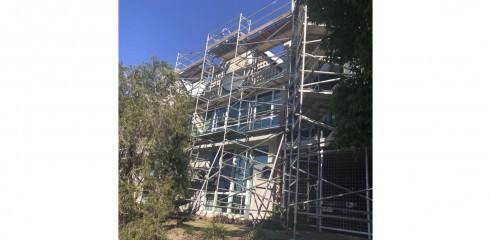 Aluminium Scaffold - Repainting Residential Building 3