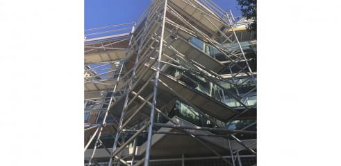 Aluminium Scaffold - Repainting Residential Building 2