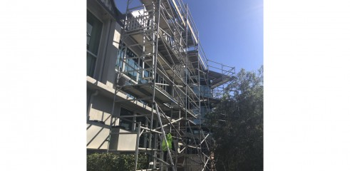 Aluminium Scaffold - Repainting Residential Building 1