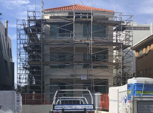 Aluminium Scaffold - Repainting Residential Building