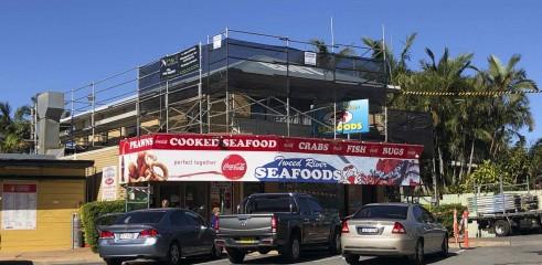 Aluminium Scaffold - Roof / Gutter Replacement 1