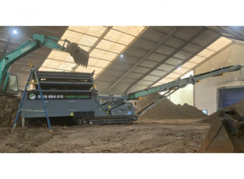 Anaconda FTR150 Feeding Conveyor w/live removable screening head 1