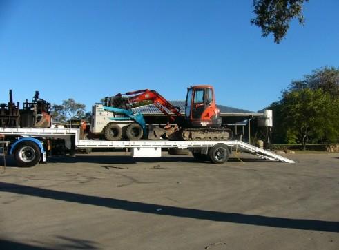 Bobcat and excavator combo 1