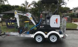 Bobcat E17 excavator Dry Hire 1