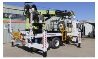 Crane Lifter Borer Truck 1