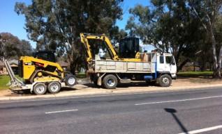 Cat 305E Excavator & Cat 239D Tracked Skid Steer Combo 1