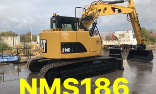 CAT 314D 14 tonne zero swing excavator with blade NMS186 Newcastle area 1