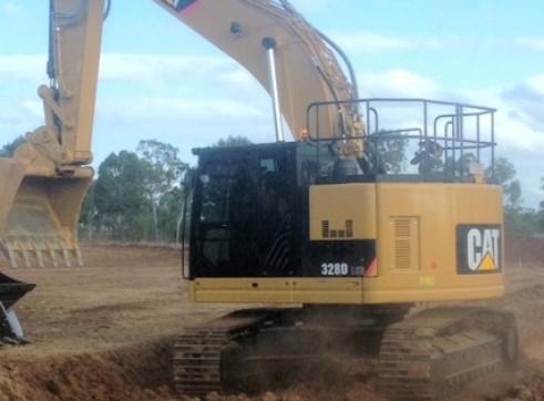 CAT 328LCR Zero Turn GPS Excavator 2