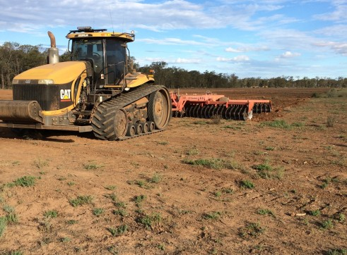 CAT Challenger w/25FT Heavy Duty Offset Plough 1