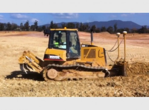 Cat D6K LGP Dozer with 6 way blade & rippers & GPS 2