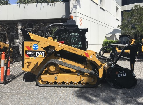 Caterpillar 299D Posi-Track w/Forestry Mulcher 1