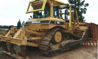 Caterpillar D6R Dozer - w/stick rake & cutter bar 1